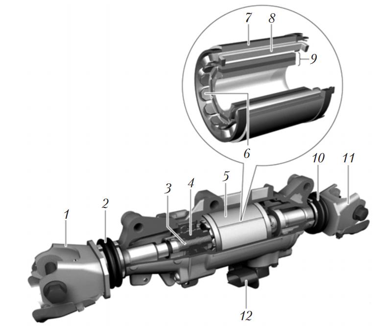 Электромеханический исполнительный механизм поворота задней оси BMW