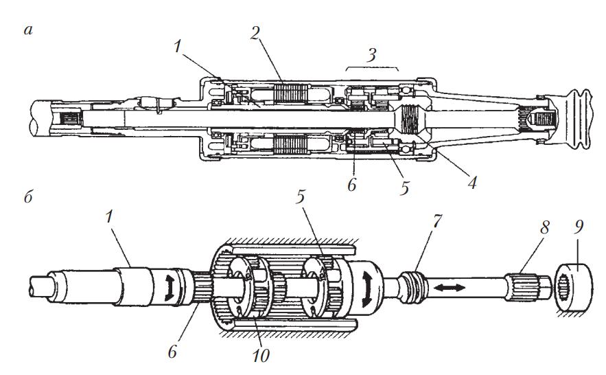 Электромеханический исполнительный механизм поворота задней оси Toyota Aristo