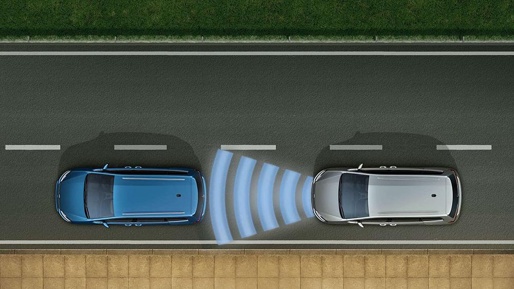Система сканирования пространства перед автомобилем Front Assist