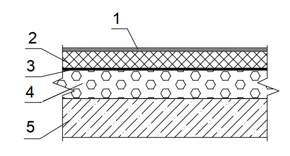 Конструкция совмещенного покрытия с прямым размещением слоев