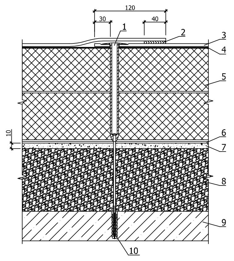 Механическое крепление мембраны к бетонному основанию покрытия