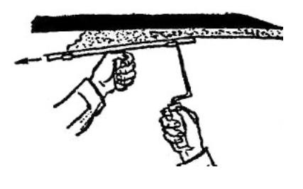 Нанесение раствора на потолок намазывание с сокола