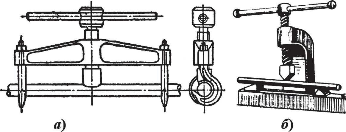 Оборудование для правки деталей типа валов