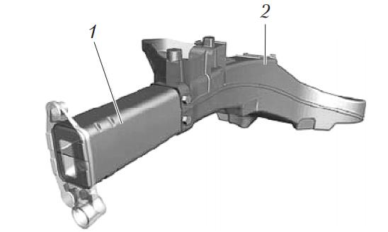 Передний лонжерон автомобиля Audi A2