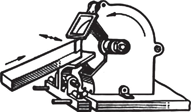 Перемещение резца на точильно-шлифовальном станке при заточке по задней поверхности