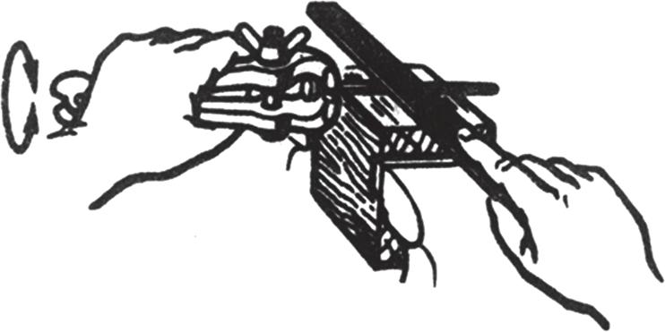 Пример применения ручных тисков