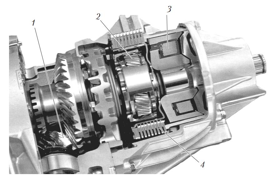 Привод задних колес с электромагнитным сцеплением
