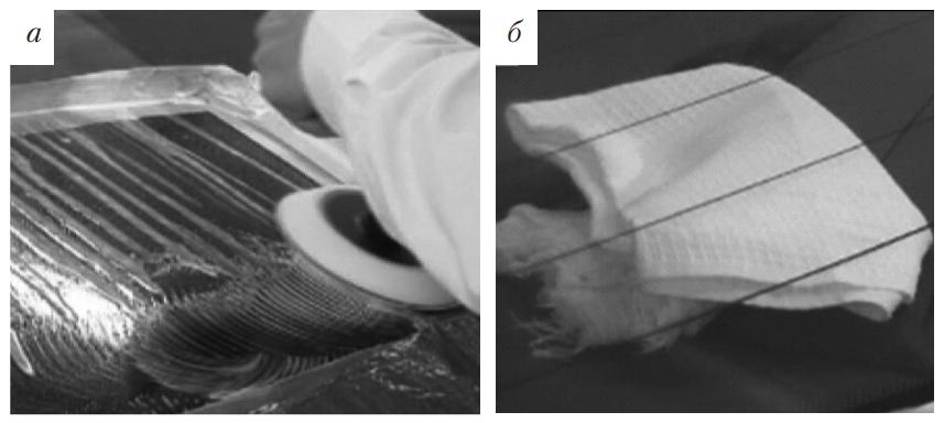 Процесс шлифования и контроль его качества с использованием белой ткани