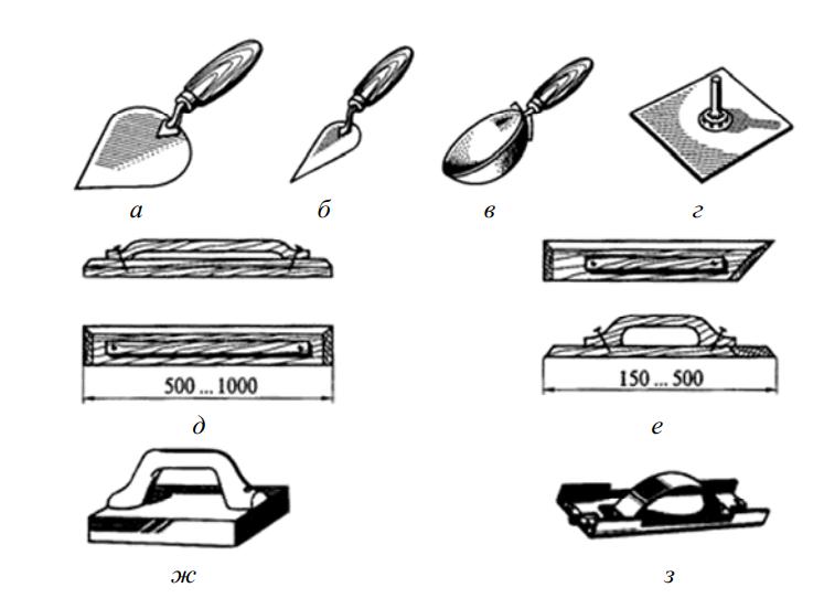 Ручные инструменты для нанесения штукатурного раствора