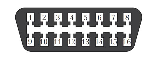 Схема 16-контактного диагностического разъема