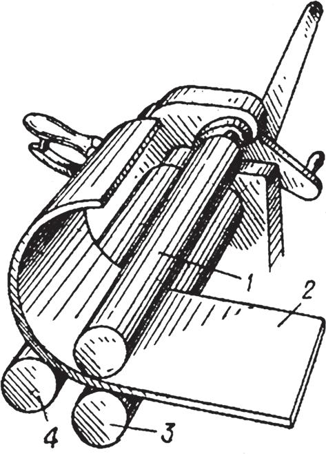 Схема работы ручных вальцов
