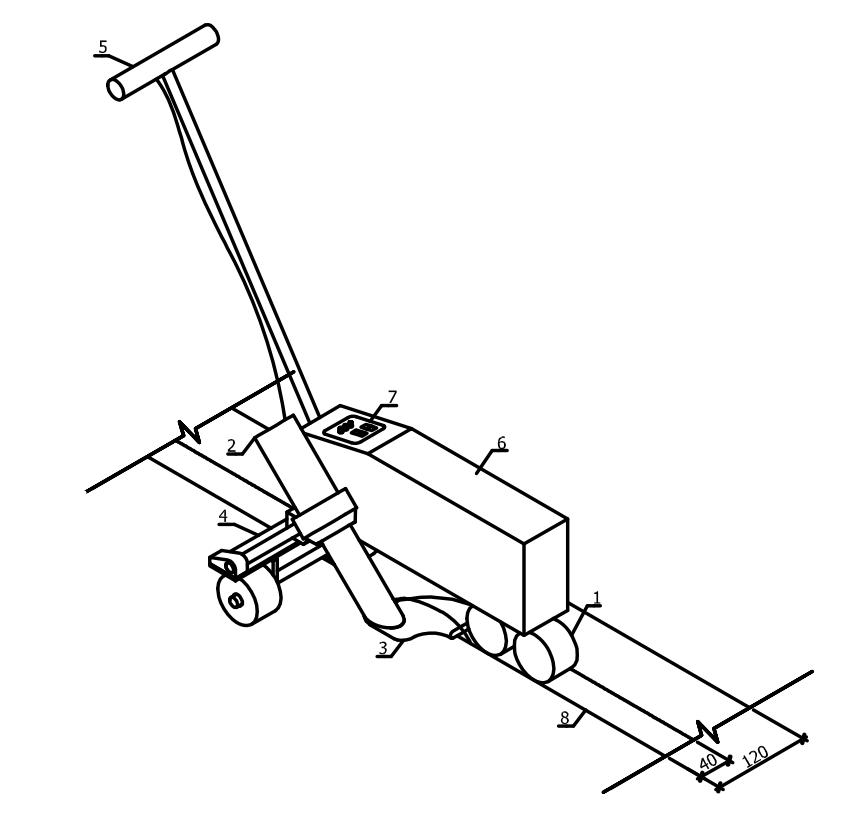 Схема соединения рулонов ПВХ-мембраны в полотнище горячим воздухом с помощью автоматического сварочного аппарата типа «ВАРИМАТ»