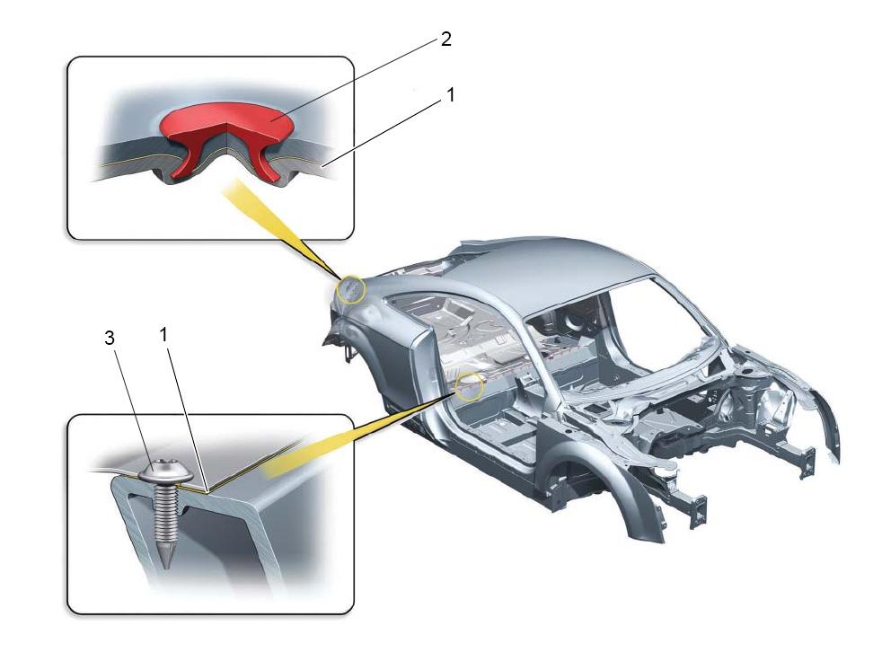 Соединения алюминиевых и стальных деталей кузова