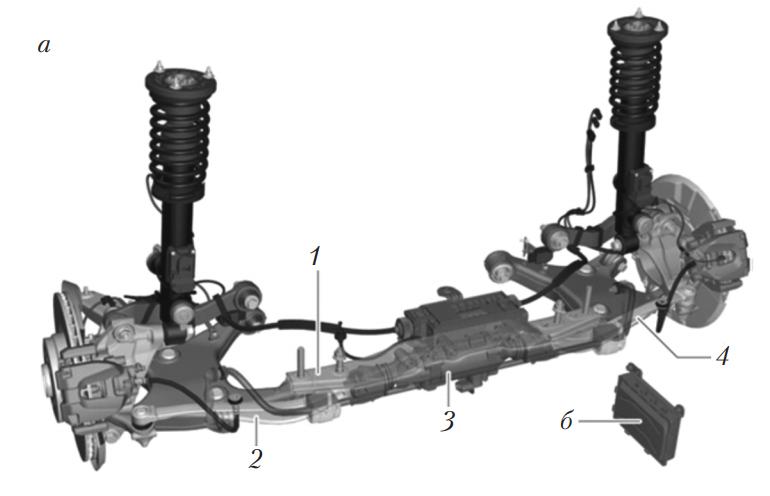 Управляемая задняя ось с электромеханическим исполнительным механизмом BMW
