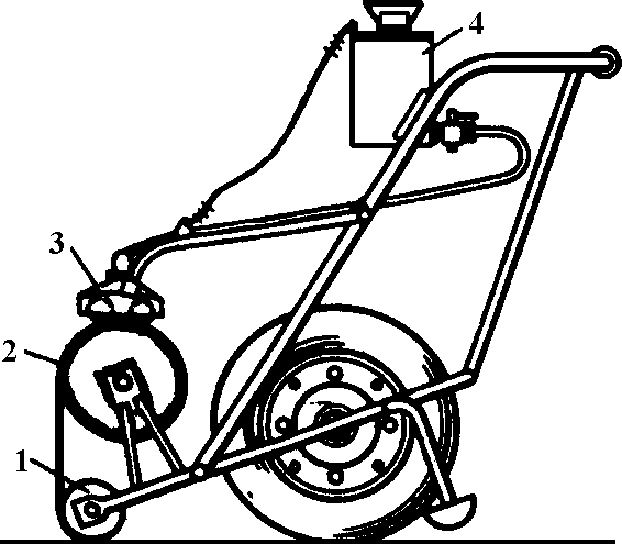 установка для наклеивания наплавляемых рулонных материалов безогневым способом