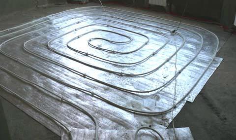 Схемы укладки труб – спираль