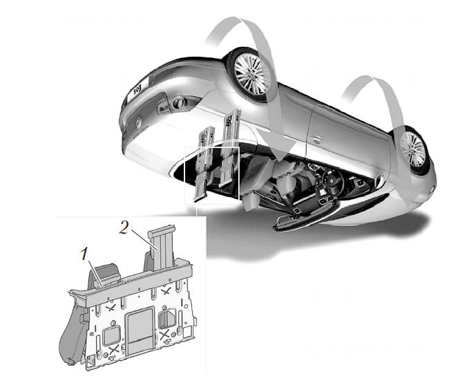 Защита пассажиров при опрокидывании автомобиля на примере Volkswagen EOS