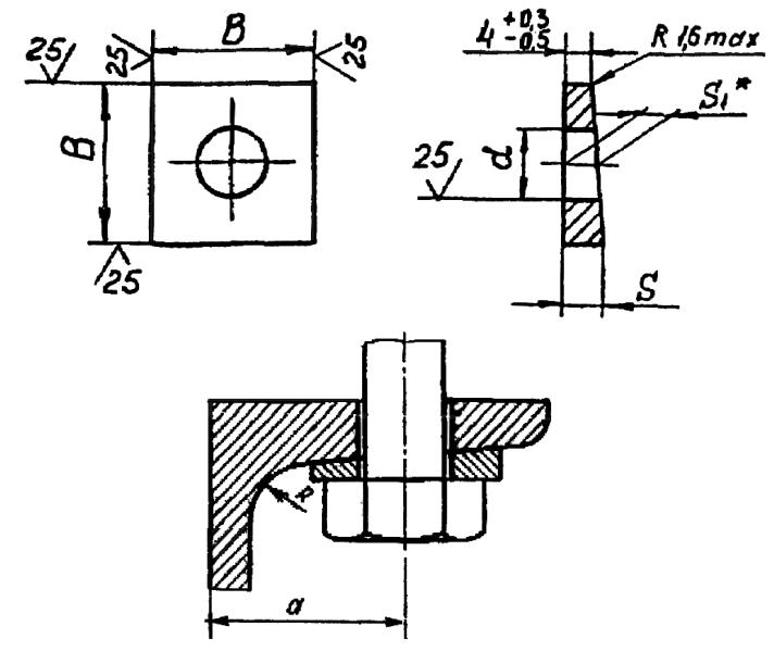 Размеры косых шайб по ГОСТ 10906-78