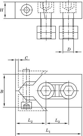 Боковой зажим для закрепления деталей - конструктивная схема