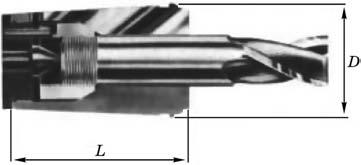 Цанга для закрепления фрез с резьбовой частью на хвостовике
