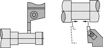 Чистовая обработка закрытых шеек валов специальными резцами