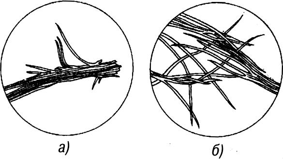 Древесные волокна после размола