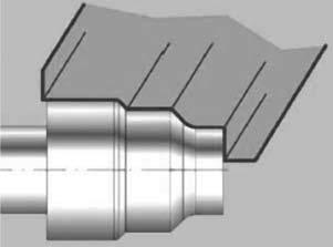 Форма рабочей части круга для одновременной обработки трех шеек вала торца, галтели и конусов