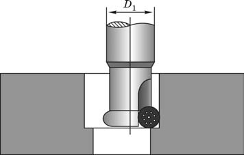 Формообразование отверстия фрезой с цилиндрическими с призматическими пластинками с врезанием по спирали