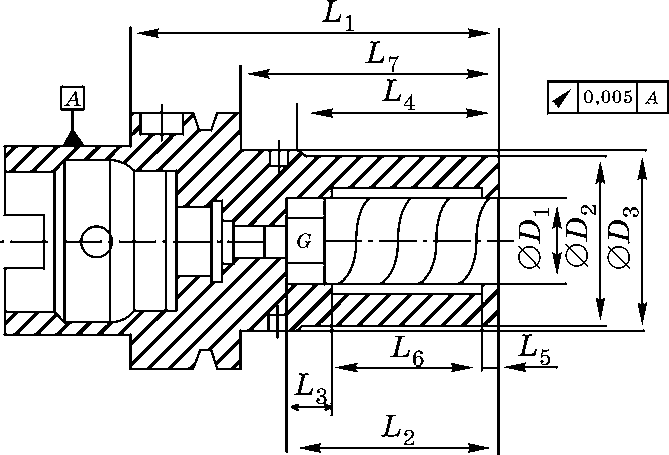 Гидропластный патрон с хвостовиком HSK