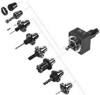 Инструментальная система, состоящая из базового корпуса и сменных переходников для станков токарной группы