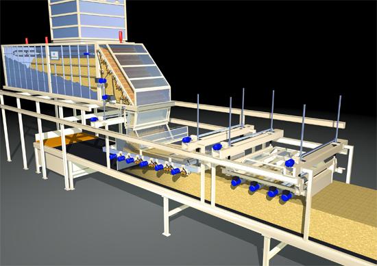 Компоновка формирующей машины в производстве MDF