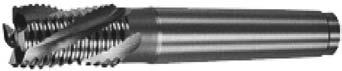 Концевая фреза с монолитной рабочей частью из быстрорежущей стали, хвостовик из конструкционной стали