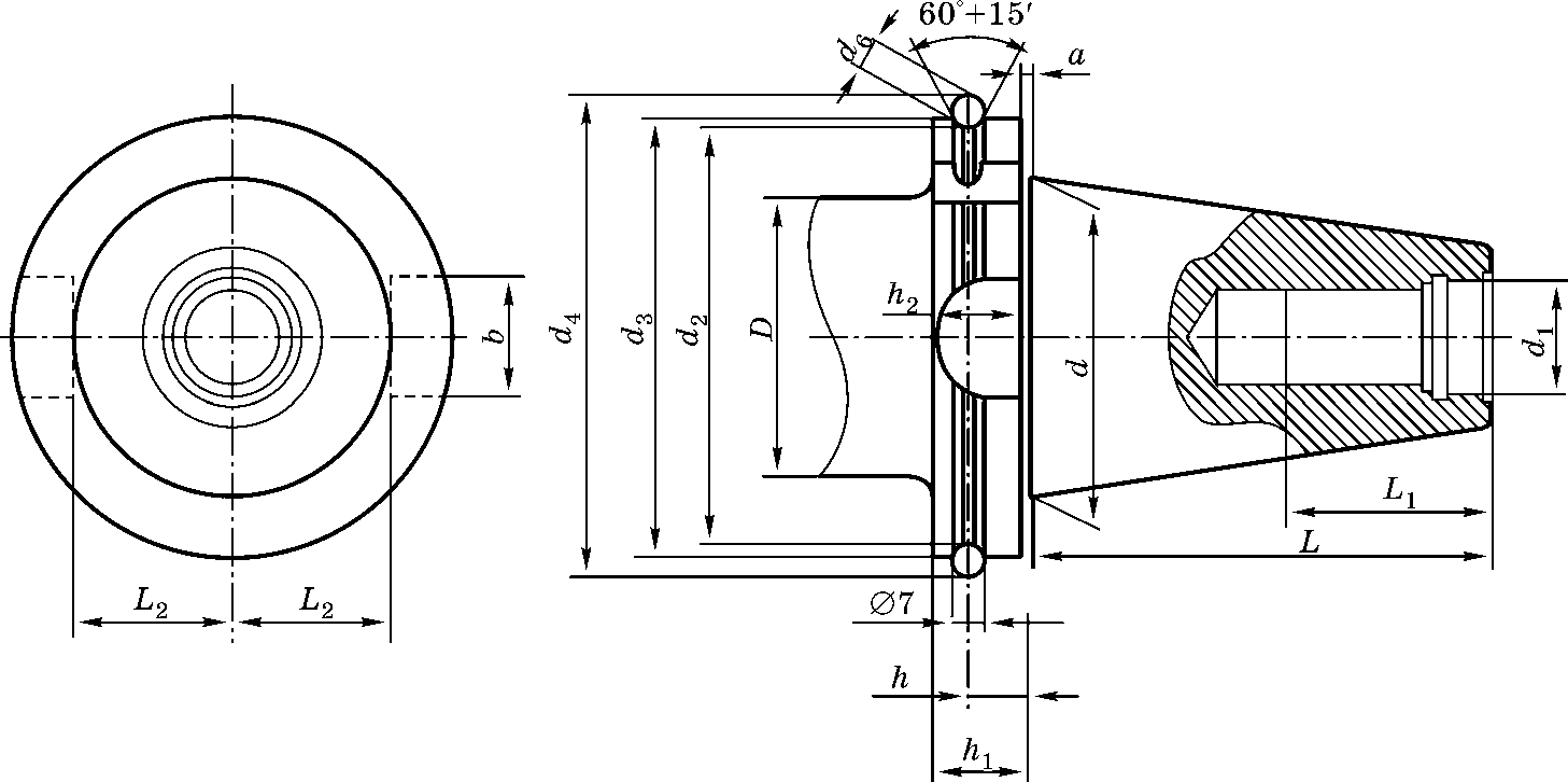 Конический хвостовик для станков c ЧПУ по стандарту Японии MAS BT403