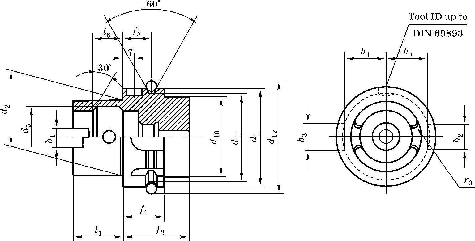 Конический хвостовик для станков c ЧПУ типа HSK DIN 69893 форма А