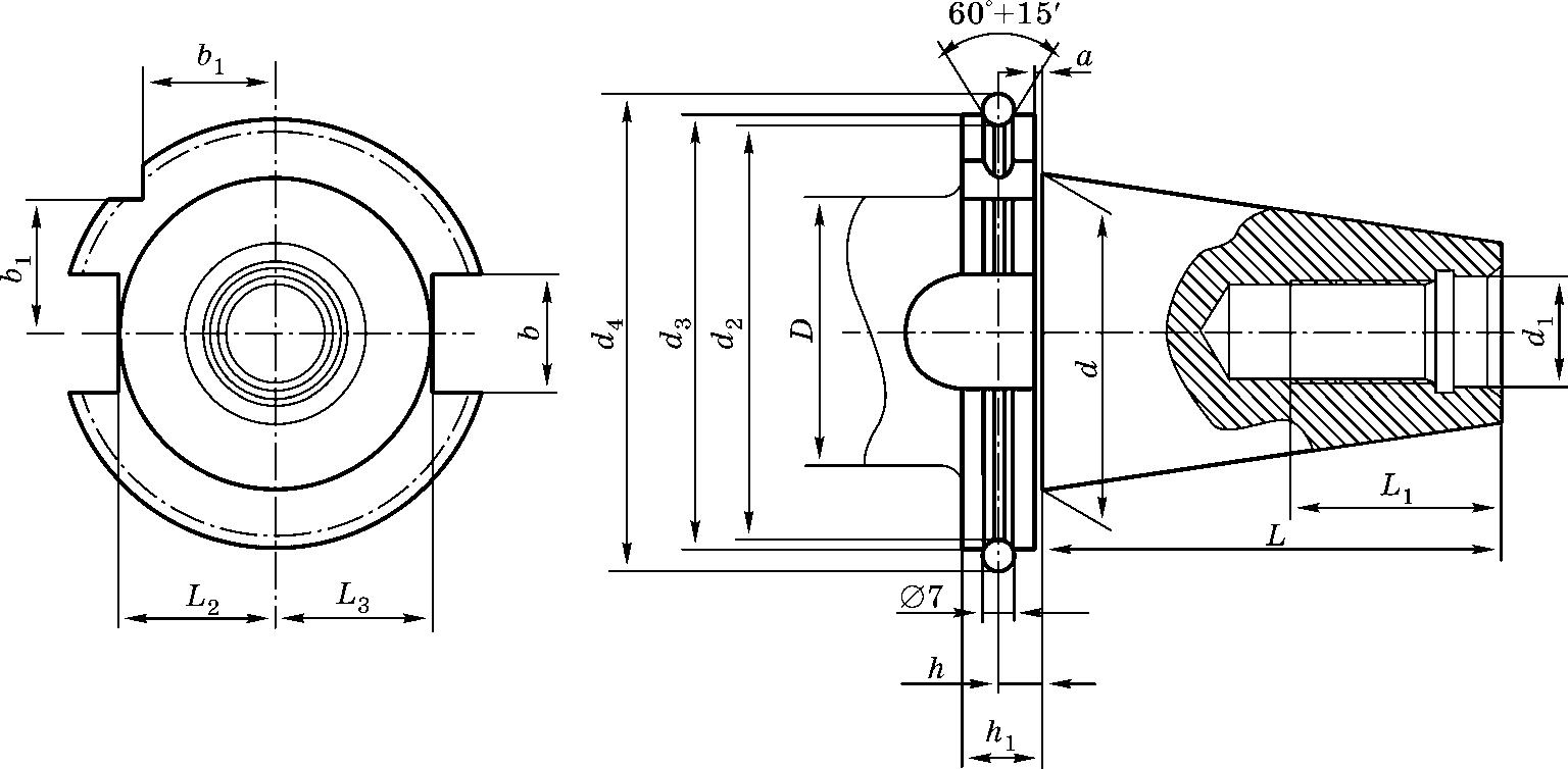Конический хвостовик по DIN 69871 A для станков с автоматической сменой инструмента
