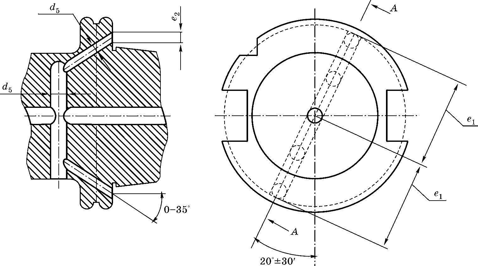 Конический хвостовик по DIN 69871 ADB для станков с подачей СОЖ через фланец или сквозное отверстие в хвостовике