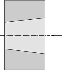 Коническое отверстие, обработанное сверлом с МНП