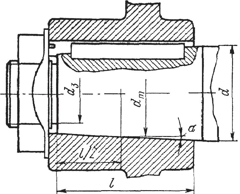 Коническое соединение деталей с гарантированным натягом