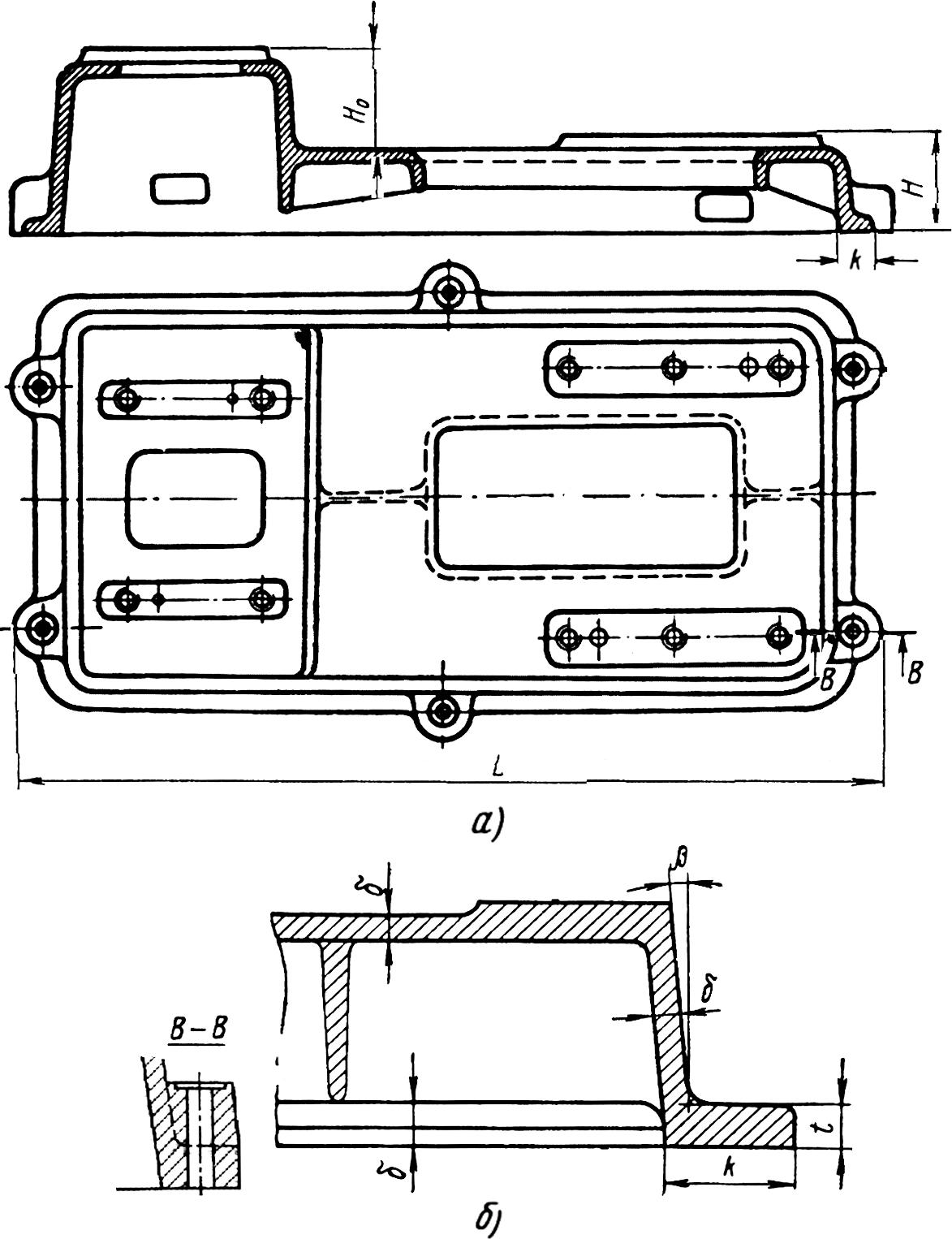 Конструкция литой плиты