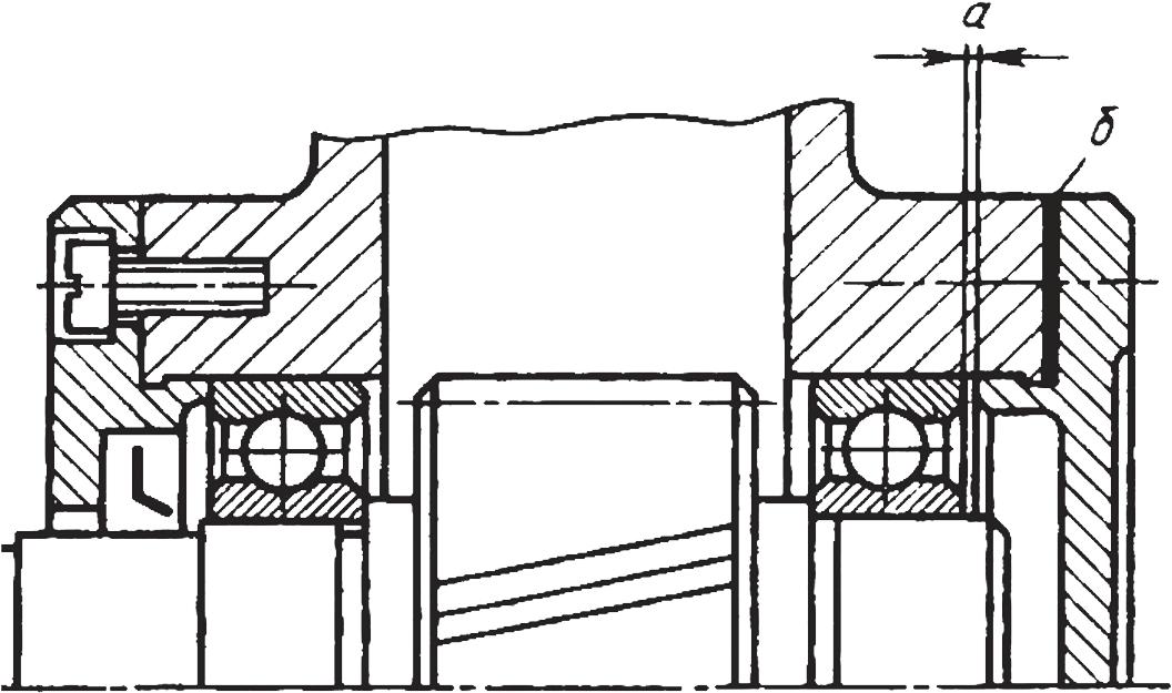 Конструкция сборочной единицы для регулировки зазора