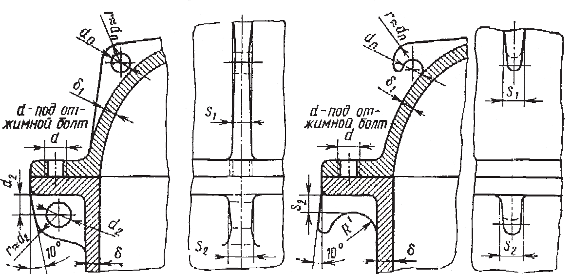 Крюки и проушины для транспортировки редуктора и его деталей