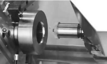 Обработка зубьев колеса внутреннего зацепления долбяком по методу обката