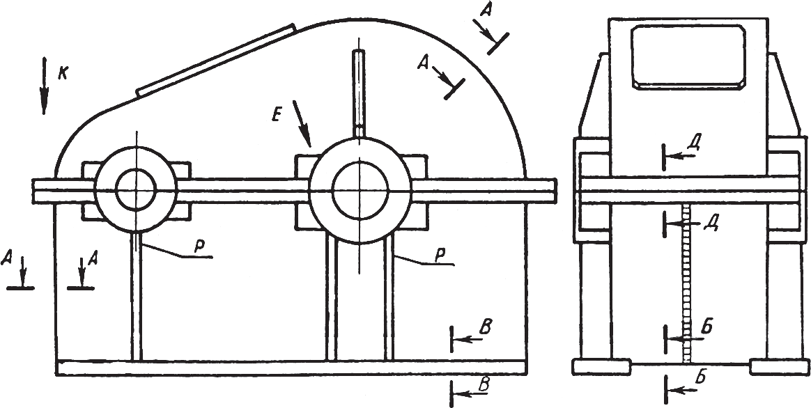 Определение конструктивных элементов сварного корпуса редуктора