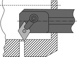 Отрезка готовой детали путем формирования фаски