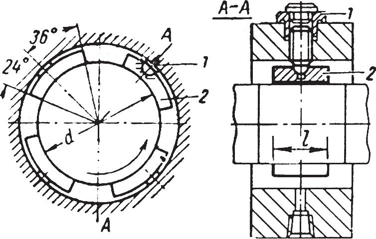 Подшипники скольжения, самоустанавливающиеся по наружной цилиндрической поверхности