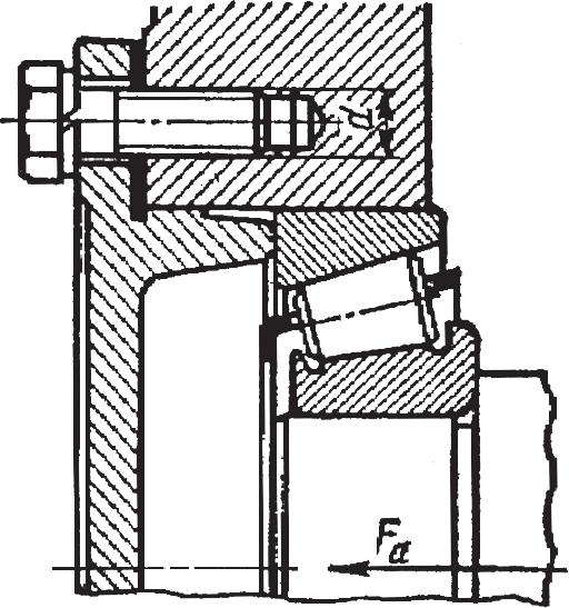 Подшипниковый узел червячного редуктора