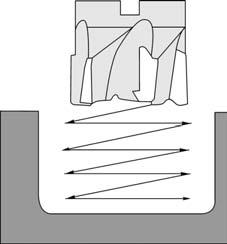 Предварительная обработка кармана наклонным врезанием