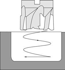 Предварительная обработка кармана винтовой интерполяцией