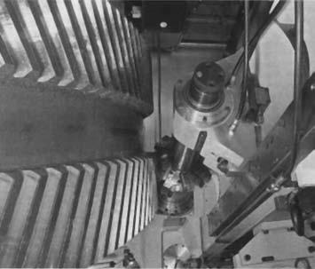 Предварительное фрезерование профиля впадин дисковой фрезой