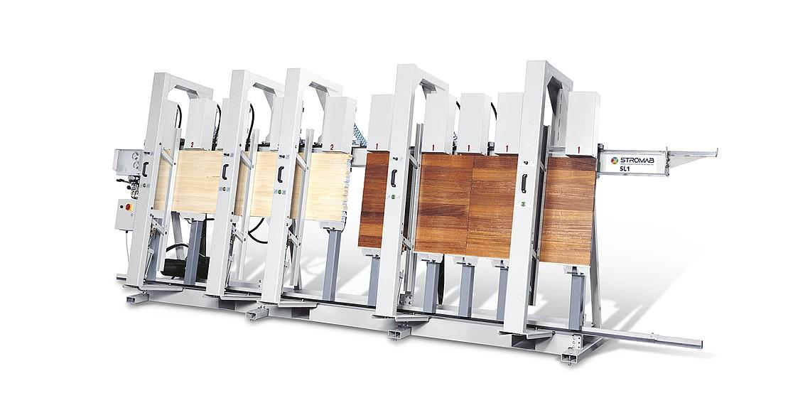 Пресс SL-1 предназначен для изготовления клееного конструкционного бруса